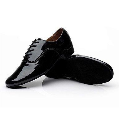 Damens's Dance Turnschuhe Schuhe Leder Leder Latin/Moderne Turnschuhe Dance Ferse Praxis - 9135ea