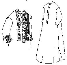 Victorian Sewing Patterns- Dress, Blouse, Hat, Coat, Mens 1860s Plain or Fancy Nightgown Pattern (Size- Small 6-10) $9.95 AT vintagedancer.com