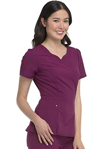 HeartSoul Love Always Women's Lovely V-Neck Scrub Top