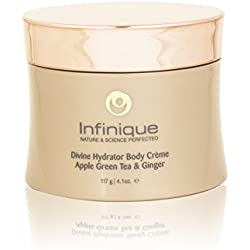Infinique Dry Skin Moisturizer | Divine Hydrator - Infused With Apple, Green Tea and Ginger, Nourishes and Delivers Mega Moisture To Prevent Dull Skin, Leaving It Soft, Smooth and Glowing, Organic