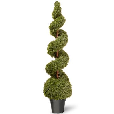 National Tree 60-Inch Cedar Spiral Plant in 15-Inch Diameter Green Pot