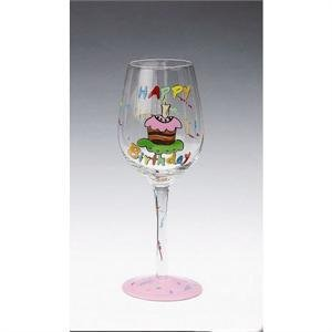 Image Unavailable Not Available For Color Happy Birthday Cake Wine Glass
