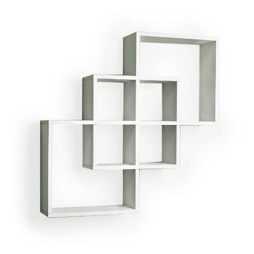 Geometric Floating Wall Shelves White Square Home Decor