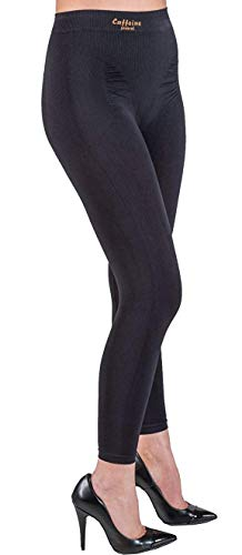 Elegant Anti Cellulite Leggings with Push up and Caffeine + Vitamin E - Black size L