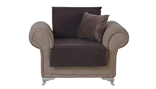 Chiara Rose Diamond Armchair Slipcover 1 Seat Sofa Cover 1 Piece Couch Furniture Protector Brown