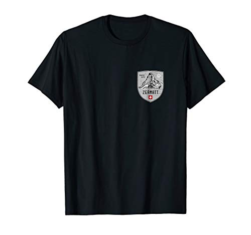 (Zermatt Mountain Switzerland Emblem Shirt)