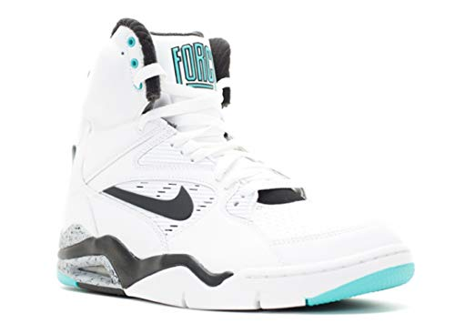 Nike Mens Air Command Force White/Black/Wolf Grey/Hypr Jd Basketball Shoe 10.5 Men US