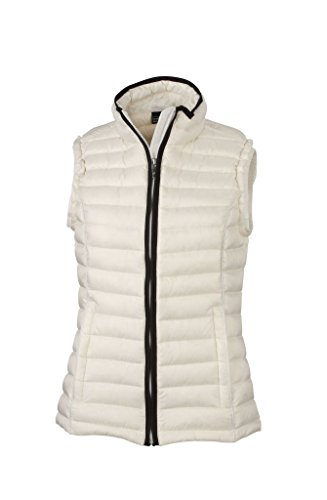 Black Off Casual with stand down vest Ladies' Vest 2Store24 up Down Quilted collar White cpqnPO