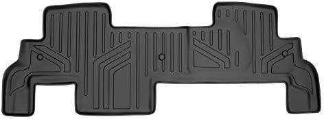 SMARTLINER 2nd Row Black Floor Mat Set Compatible With 2009-2017 Chevy Traverse/08-17 Buick Enclave /2007-2010 Saturn Outlook/2007-2016 GMC Acadia/ 2017 GMC Acadia Lmtd (Old Body)(2nd Row Bench Seat)