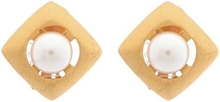 MISAKI Damen Ohrring Ohrclip Gold Edelstahl Schmuck Perle QCRCMIRAMAR  UVP:75 €€