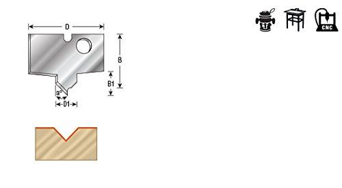 Amana Tool NRC-B52 Pair of Solid Carbide Nova Plunge V Groov