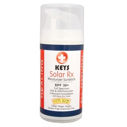 Touches solaire à large spectre Rx lotion FPS 30 Écran solaire 3,4 onces par Care clés