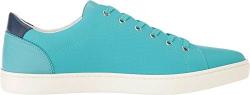Dolce & Gabbana Heren Londen Rubberen Leren Sneaker Groenblauw