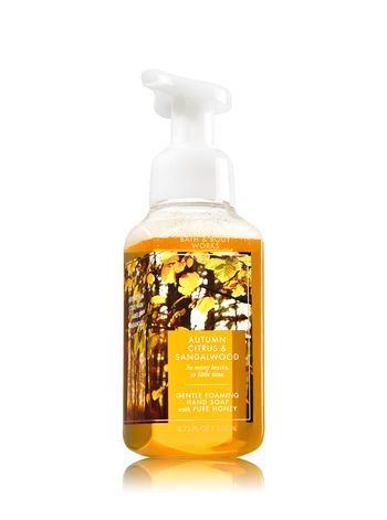 Bath & Body Works Gentle Foaming Hand Soap Autumn Citrus & Sandalwood (Citrus Sandalwood Scent)