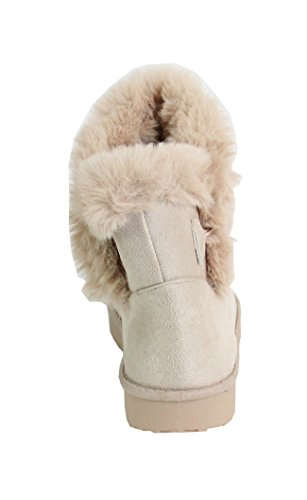 Beige Mujer By para Botas Shoes 8qwvHz4R