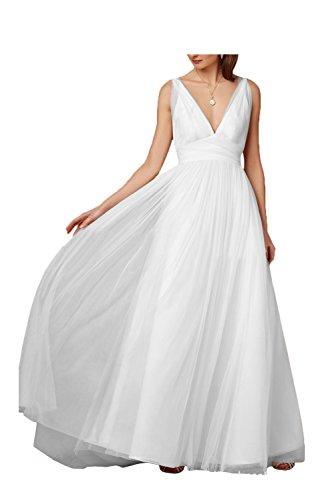 Weiß para trapecio Missdressy Vestido mujer 4wvqwWIE