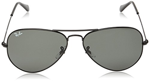 5693f07ac8 Ray-Ban RB 3025 L2823 58 Unisex Aviator Large Black Metal - Import ...