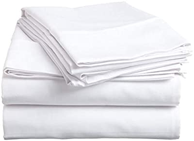 "4 PCs Sheet Set, 100% Egyptian Cotton 400 Thread Count -6"" Deep Pocket RV- Trucks, Campers, Airstream, Bus, Boat and motorhomes Easy to fit in RV-Mattress"