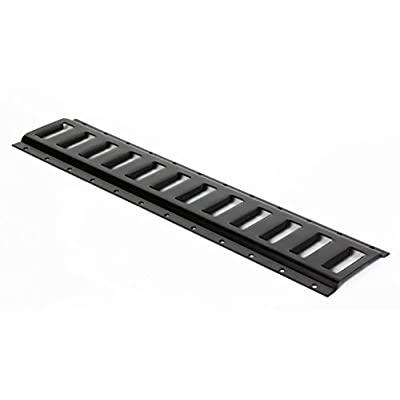 Four 2' E Track Tie-Down Rail, Powder-Coated Steel ETrack TieDowns | 2' Horizontal E-Tracks, Pack of 4 Bolt-On Tie Down Rails for Cargo on Pickups, Trucks, Trailers, Vans: Automotive