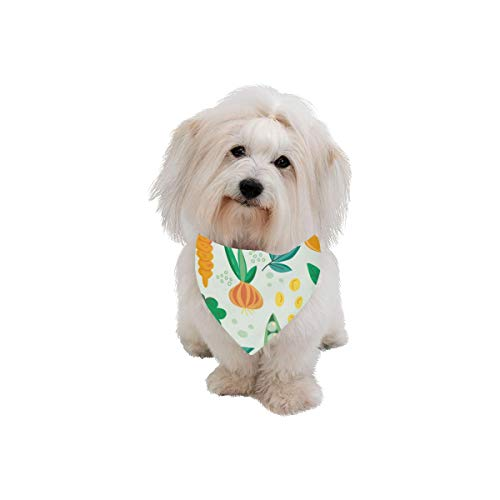 XINGCHENSS Pet Dog Cat Bandana Fruit and Vegetable Harvest Sweet Fashion Printing Bibs Triangle Head Scarfs Kerchief Accessories for Large Dog Pet Birthday Party Easter Gifts