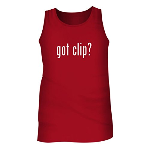 Tracy Gifts Got Clip? - Men's Adult Tank Top, Red, Large