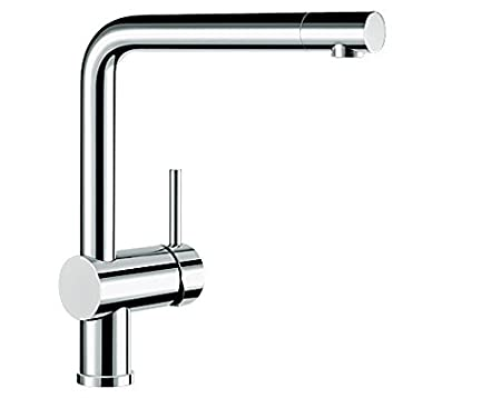 Blanco Linus S blanco linus s vario kitchen tap metallic surface chrome high