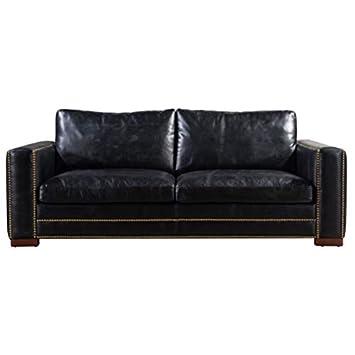 Designer Sofas4u George Vintage - Sofá de Piel Envejecida ...