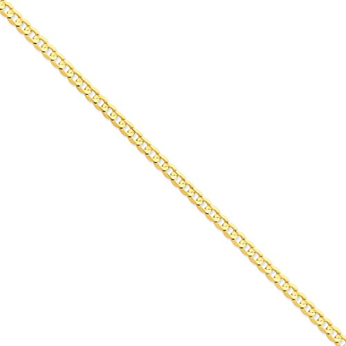ICE CARATS 14kt Yellow Gold 5.25mm Concave Link Curb Bracelet Chain 8 Inch Fine Jewelry Ideal Gifts For Women Gift Set From Heart 14kt Gold Curb Chain Bracelet