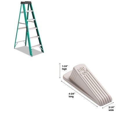 KITDADFS4006MAS00900 - Value Kit - Master Mfg 00900 Big Foot Doorstop, Beige (MAS00900) and Ladder, Step, Fibergls Ii, 6' (DADFS4006) by Master Caster