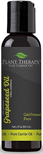 Plant Therapy Grape Seed Carrier Oil 2 oz Base Oil for Aromatherapy, Essential Oil or Massage use