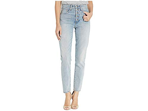 (Joe's Jeans Women's x We Wore What Danielle High Rise Straight Jeans, Vintage Light, Blue, 24)