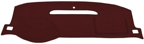Jaguar S-Type Dash Cover Mat Pad - Fits 2003 - 2004 (Custom Velour, Maroon) by Seat Covers Unlimited