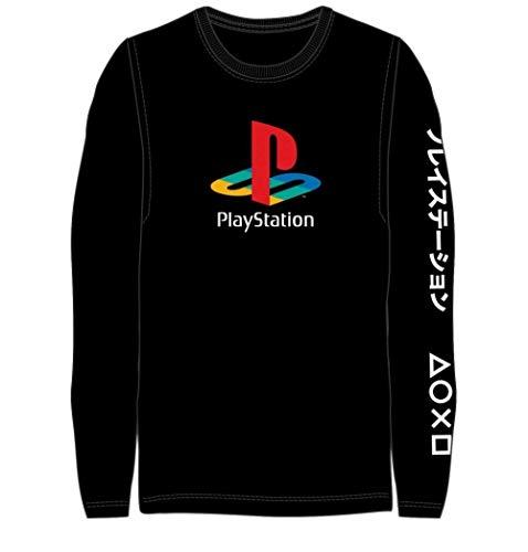Long Sleeve Classic Playstation Logo T-Shirt-Small