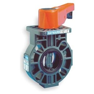 (Hayward BY220300VL BY Series CPVC Butterfly Valve with Lever Handle, FPM Liner, 3