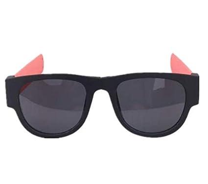 TENGGO Unisex Uv400 Polarizado Gafas De Pulsera De Diseño Creativo Anteojos De Sol Moda Divertidas Gafas-Naranja