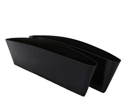 (TUPWEL 1Pair Generic Car Seat Side Slit Pocket Catcher Interior Organizer Box Accessories Gap Filler Stop Tray Between Car Seat Console (Black))