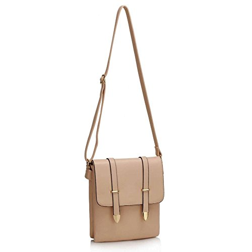 Handbag 5x4x27cm Shoulder Ladies Bag Style Body LWS00470 Pink Cross Messenger Celeb Bags Lws00470 24 Women's nude LeahWard qwaInSzgz