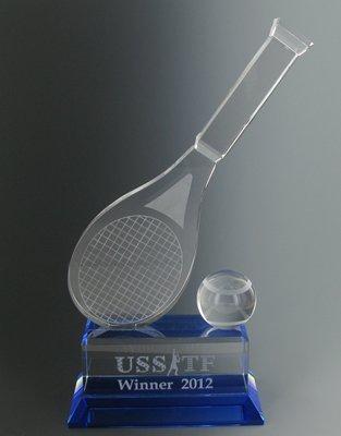 Amazon.com: vidrio Óptico Trophy/Raqueta de tenis y pelota ...