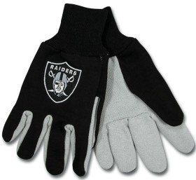 McArthur 9960690674 Oakland Raiders Two Tone Adult Size Glove ()