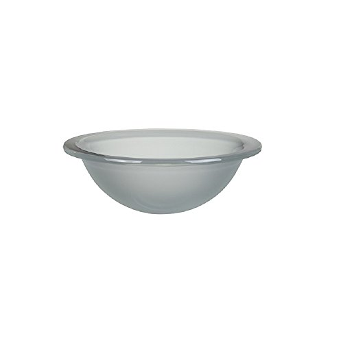 DECOLAV 1000TU-FCR Terra Translucence Round 12mm Tempered Glass Undermount Bathroom Sink, Frosted Crystal