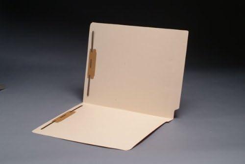 End Tab Manila Folders 11 pt, Full Cut 2-Ply, Letter Size, Fastener Pos #1 & #3 (250 matter)