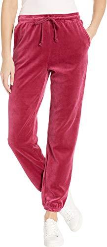 Juicy Couture Women's Velour Surfside Pants Pomegranate Medium 28
