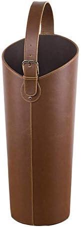 ブラウンPUレザー傘立て、杖歩行用出入り口傘収納ホルダー、20 x 60 cm(色:20 x 60 cm(7.8 x 23.6インチ))
