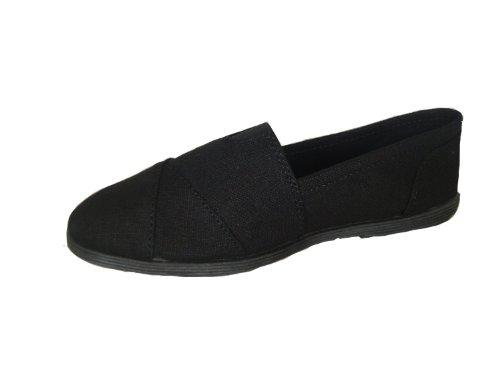 Soda Women Object Round Toe Flats Shoes,6.5 B(M) US,Black Black