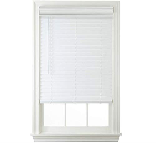 Trader Blinds Custom Cordless White 2″ Faux Wood Blinds 40″ W x 48″ H