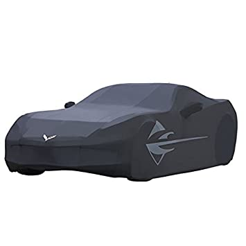 2014 C7 Corvette Outdoor Car Cover Black With Large Stingray Fender Logos Storage Bag
