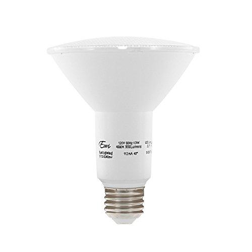 Euri Lighting EP30-5040ew LED PAR30 Bulb, Everyday Line, Bright White 4000 K, Dim 13W (75W Equiv) 900 Lumens, Wet Rated, 90+ CRI, 40 Degree Beam Angle, Medium Base (E26) UL/E-Star Listed