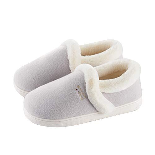 Taille Gray Extérieur Intérieur Flop SFHK Confort Coton Flip Unisexe Chaussures Chaussons Bottes Antidérapant Basse Hiver wwACqnR