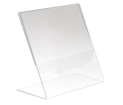 Econoco HP/CT811V-SB Acrylic Vertical Slantback for Counter Top, 8-1/2