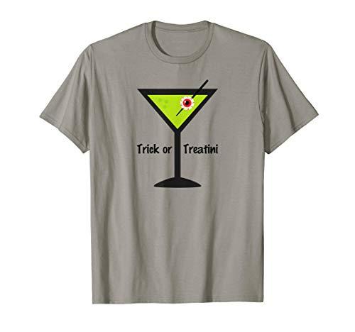 Trick or Treatini T-Shirt Shirt Tee - Martini Eyeball Treat -